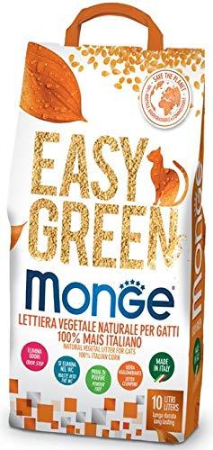Monge Easy Green Lettiera Vegetale per Gatti 100% Mais Italiano New