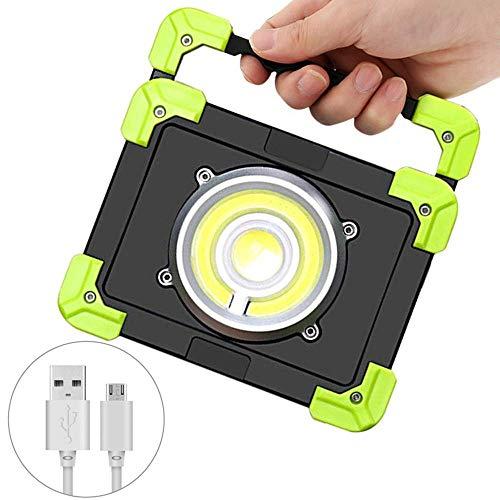 CHENJIA 20W LED portátil Proyector LED del Trabajo for la Caza Que acampa Linterna LED de luz al Aire Libre