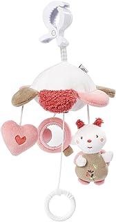 Fehn 068078 Mini-Musik-Mobile Blume / Spieluhr-Mobile für Unterwegs zum Befestigen an Kinderwagen oder Babyschale - für Babys und Kleinkinder ab 0 Monaten