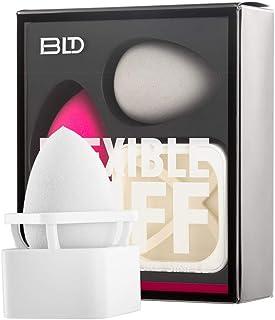 BLDスポンジパフ 化粧用スポンジ 化粧ツール 柔軟性 乾湿兼用 ファンデーションを吸わない 斜めカット/しずく型 2個 メイクスポンジ +1個 メイクスポンジホルダー