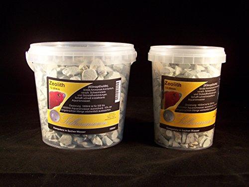 Silbermann Zeoliet (clinoptiloliet), filtermateriaal voor zoet water, aquarium, filtermedium, zeolie, fosfa-binder, ontgifter, fijn, grof of poeder, in verschillende maten, 5000 ml