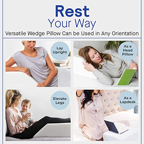 Restorology Elevating Leg Rest Pillow with Removable Cover