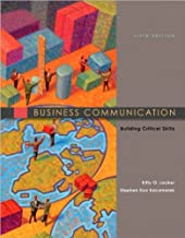 by Kitty Locker,by Stephen Kaczmarek Business Communication: Building Critical Skills(text only)5th (Fifth) edition[Paperback]2010