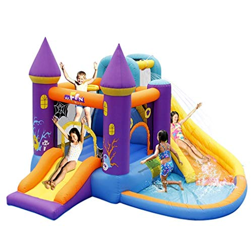 WRJY Kid Baby Toys Children's Inflatable Castle Kindergarten Children's Slides Children's Toys Outdoor Large Amusement Park Inflatable Castle Children's Trampoline for Indoor and Outdo