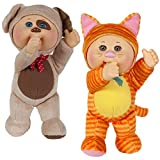 Wicked Cool Toys Cabbage Patch Kids Cuties, 2-Pack - Parker Puppy and Kallie Kitty - Collectible Baby Dolls - 18+ Months