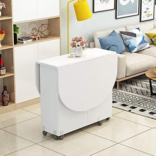 XIAOPING Table Pliante Moderne Petit Appartement Table Pliante Maison Ronde Ovale Salle à Manger Salon 8 Couleurs (Color : G)