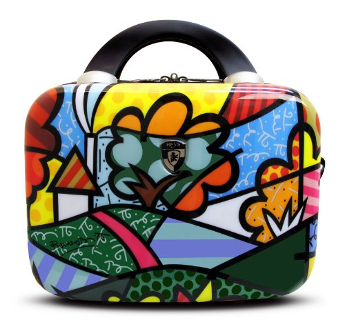 Heys USA Luggage Britto Flowers Hard Side Beauty Case, Multi-Colored, One Size