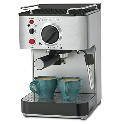 Cuisinart EM-100NP1 1.66 Quart Stainless Steel Espresso Maker, 12.56u0022(L) x 8.19u0022(W) x 10.94u0022(H), Silver
