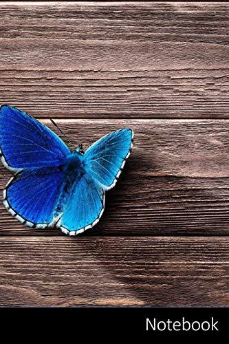 Notebook: Schmetterling, Flügel, Insekt, Tier Notizbuch / persönliches Tagebuch / Schreibheft / Logbuch / Planer / Vokabelheft / Notizen - 6 x 9 Zoll ... Seiten mit Datumslinie, glänzendes Cover.