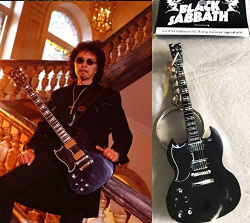 Schlüsselanhänger Gitarre Gibson Sg Tony Iommi Black Sabbath