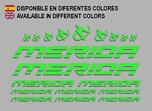 Ecoshirt LK-PDU3-SU9X Sticker Merida Frame Set Bikes F150 groen