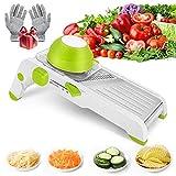 Mandoline Slicer with Protective Gloves,VEEAPE Adjustable Kitchen Vegetable Slicer For Potato and Onion,French Fry Cutter, Food Slicer, Vegetable Chopper Cutter