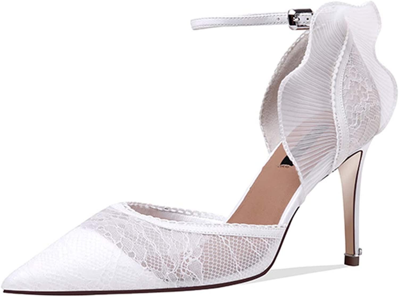 MYXUAA Damen High Heels Mode Spitz Sandalen Sandalen Pumps Party Dress Pumps  Rabattaktionen