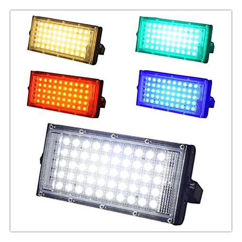 YSJJJBR Faretti Incasso LED LED Power Floodlight Impermeabile Spotlight Street Lamp 220V 240 V Fresco Bianco Rosso Verde Blue Spot Light Lighting Lighting IP65 RGB.