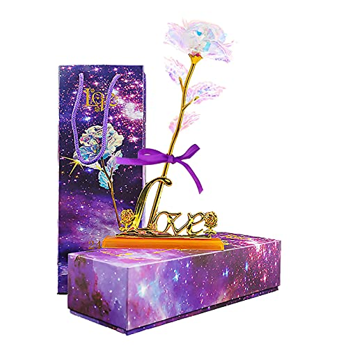 Gifts for Women Birthday Gifts for Her Galaxy Rose Artificial Flowers...