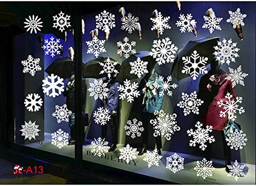 Geneic Pegatinas de ventana de Navidad, reutilizables, pegat