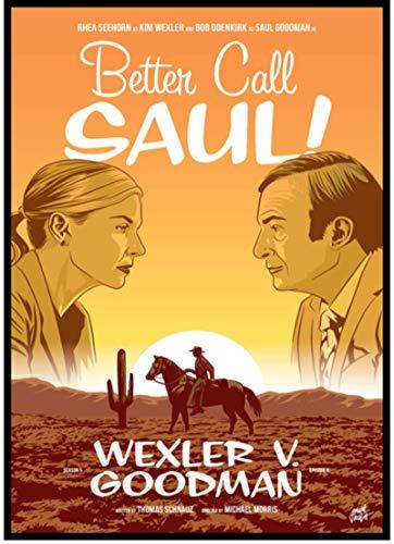 SHENGZI Canvas Poster Better Call Saul Season 5 Retro Poster, Poster, Home Decor Painting, Vintage Decorative Wall Sticker 50 * 70Cm Frame