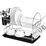 Best Dish Drainers - Glotoch Dish Drying Rack, 2 Tier Dish Rack Review