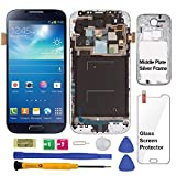 Display Touch Screen (AMOLED) Digitizer Assembly with Frame for Samsung Galaxy S4 (IV) SCH- I545 (Verizon) / SPH- L720 (Sprint) / SCH- R970 (U.S. Cellular) (for Phone Repair Replacement) (Black Mist)