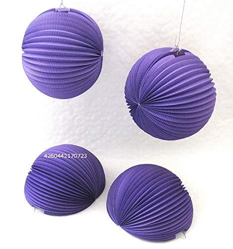 Lampions Lila 8 STK. D-30cm Größe L, Papierlampions schwer entflammbar dekorieren