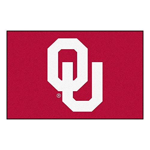 FANMATS - 2394 NCAA University of Oklahoma Sooners Nylon Face Starter Rug