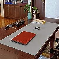 拡張大型レザーマウスパッド、多機能デスクパッド保護パッド、滑り止めデスクパッド、防水マウスパッド、オフィスホーム-灰色. 40x60cm(16x24inch)