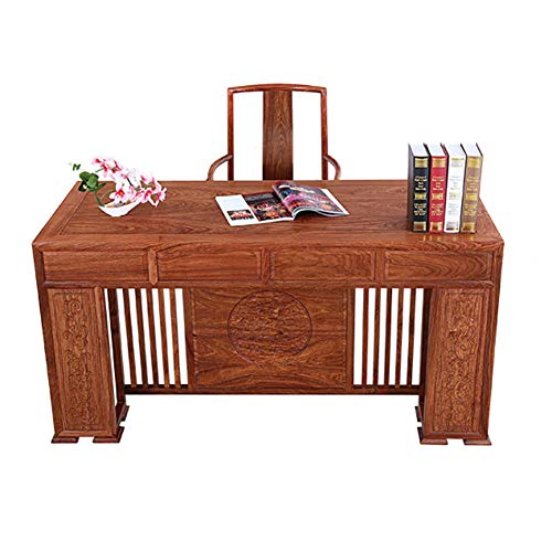 RLIRLI Igel Palisander Mahagoni Schreibtisch Und Stuhl Kombination Klassische Chinesische Glückverheißende Schreibtisch Studie Massivholz Schreibtisch