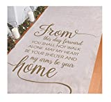 "Wedding Aisle Runner: Use this inspiring aisle runner as part of your ceremony supplies as you walk down the aisle. Quote says ""From This Day Forward"": With a beautiful quote you can start the journey to the rest of your lives together. Includes nylo..."