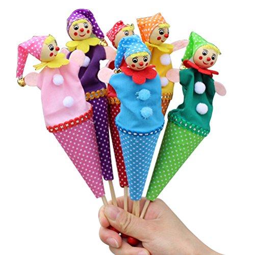 TOYMYTOY 6 stück Tütenkasper Tüten Puppen mit Glocken Kasperlfigur Fingerpuppen Kinder Baby Geschichte Spielzeug Geburtstag Geschenk