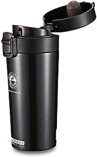 380ml Thermal Bottle Coffee Mug Travel Portable Stainless Steel Water Bottle-Black