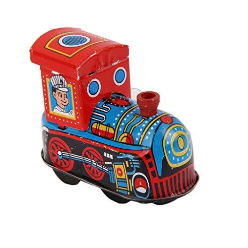 Terminan Tren Ninos Locomotora Modelo Relojeria Juegan Los Juguetes De