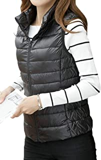 Womens Packable Lightweight Sleeveless Winter Puffer Down Vest Waistcoat