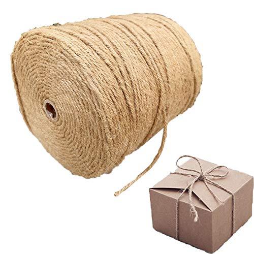 Jute Thread, Gift Wrap Christmas Rope Garden Bundle Wedding Decoration Retro Biodegradable Fiber Material, 20 Sizes (Color : Beige, Size : 1mm-1000m)