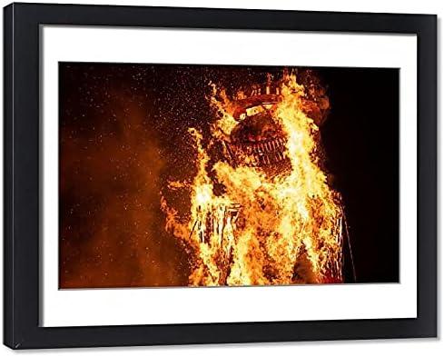Media Superlatite Storehouse Direct store Framed 20x16 Photo Two-Storey-T a Burning of