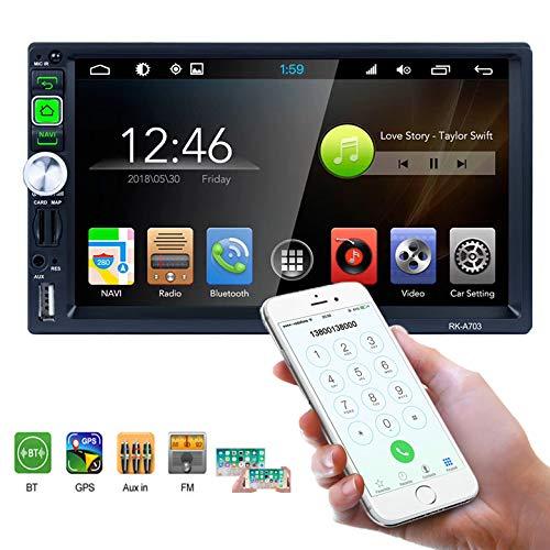 Car Multimedia Player - Doppel-DIN-Autoradio, 7-Zoll-LCD-Touchscreen-Monitor, eingebauter Bluetooth/WLAN/GPS, MP5-Player, AM/FM-Autoradio, Lenkrad-Steuerung