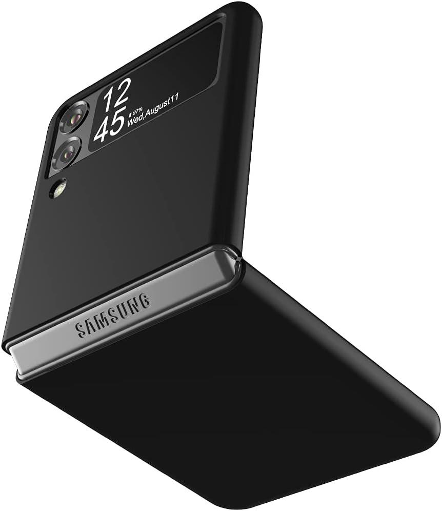 Cresee Case for Samsung Galaxy Z Flip 3 5G 2021, Slim Fit Matte PC Cover Phone Case for Galaxy Z Flip3 - Black