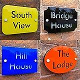 Placa personalizada casa dirección casa puerta Número calle nombre personalizado hecho