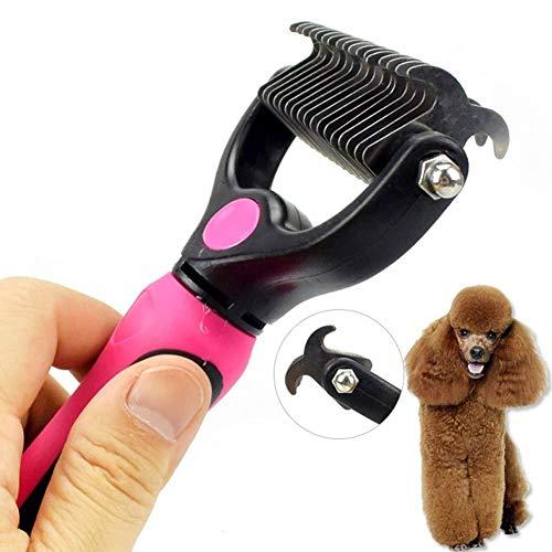Haodou. Bester Slicker-Pinsel für Hunde und Katzen hilft Haustieren beim Striping Finishing Detangling Deshedding Pet Brush Shedding Pflegewerkzeuge