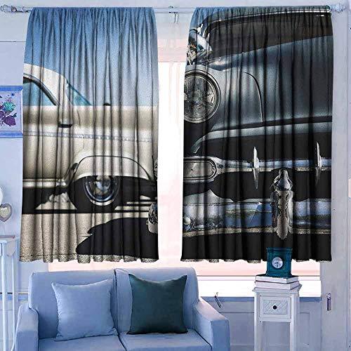 Lovii Blackout Gordijnen staafzak gordijnen Thermische geïsoleerde panelen huisdecoratie Vintage Vliegtuig P 1 Dallas Pop Gedetailleerde Illustratie American Air Force Classic Plane Multi kleuren