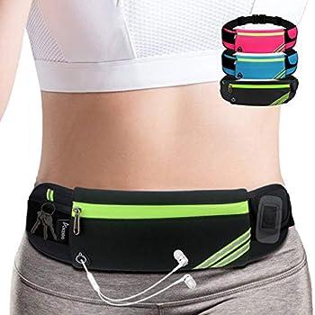 Slim Running Belt Fanny Pack,Waist Pack Bag for Hiking Fitness Cycling Workout Gym,Reflective Runners Belt Jogging Pocket Belt for iPhone XS,XR,7 8 Plus,Travelling Money Phone Holder for Running