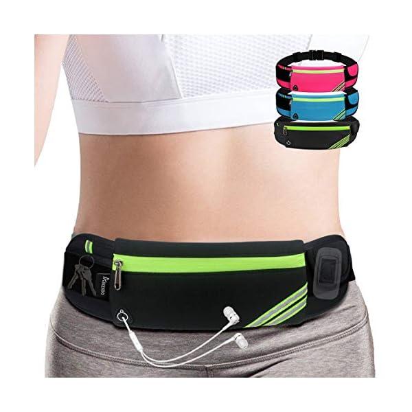 AIKENDO Running Pouch Belt Waist Pack Bag,Workout Fanny Pack,Bounce Free Jogging...