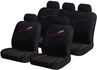 YangD Autositzbezüge Set, Universal Sitzbezüge Auto Vordersitze und Rückbank Komplettset mit Gecko Stickerei for Auto Zubehör Innenraum (Color : Black pink)