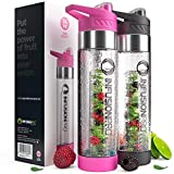 Infusion Pro Fruit Infusion Water Bottle, Classic (24 oz) - Features...