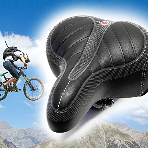 Wiltec Sella per Bici Universale in Similpelle Sedile Biciclette 250x200x60mm
