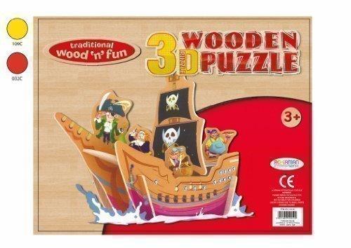 Enfants Pirate Bateau 3D Puzzle En Bois Fabrique Toi-même Jouet