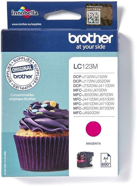 Brother Tintenpatrone Lc 123bk Schwarz Brother Bürobedarf Schreibwaren