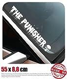 The Punisher Frontscheibenaufkleber 55,0 cm x 8,8 cm Auto Aufkleber JDM OEM Tuning Sticker Decal 30...