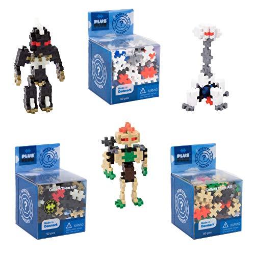 PLUS PLUS – Set of 3 Mystery Makers – Robots, Bundle 1 – Construction Building STEM | STEAM Toy, Interlocking Mini Puzzle Blocks for Kids