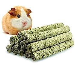 ULIGOTA Timothy Hay Chew Sticks Pet Chew Treats & Toy Rabbit Guinea Pigs Chinchilla Hamster Sticks