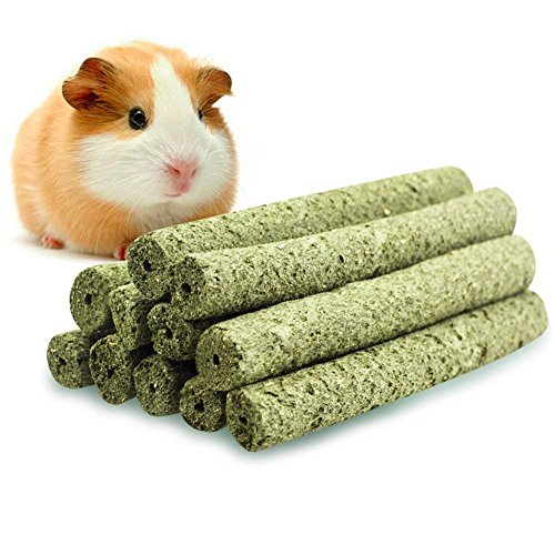 ULIGOTA Timothy Hay Chew Sticks Pet Chew Treats & Toy Guinea Pigs